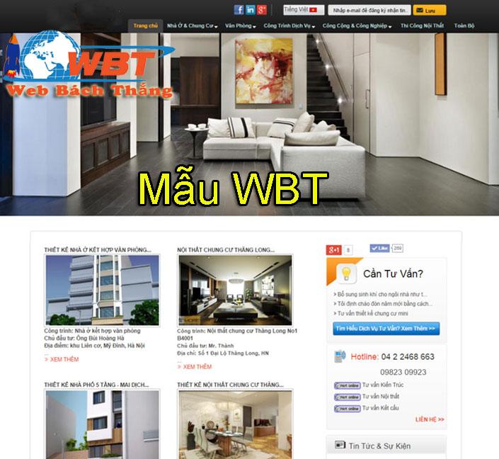 mẫu website