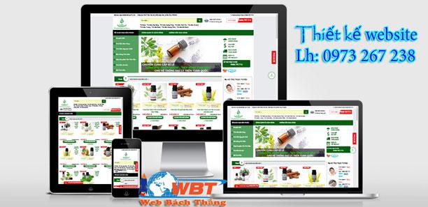Thiết kế website bán tinh dầu uy tín chuyên nghiệp chuẩn seo