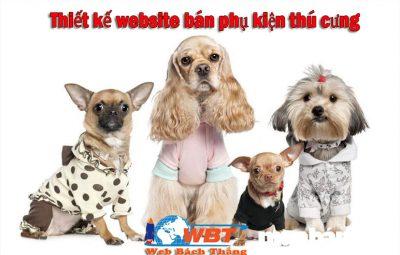 Thiết kế website bán phụ kiện dành cho thú cưng giá rẻ