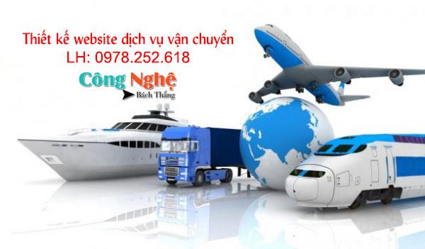 Thiết kế website dịch vụ vận tải chuyên