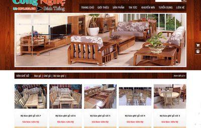 Thiết kế website bán đồ gỗ nội thất