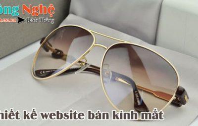 Thiết kế website bán kính mắt