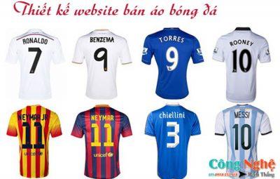 Thiết kế website bán áo bóng đá