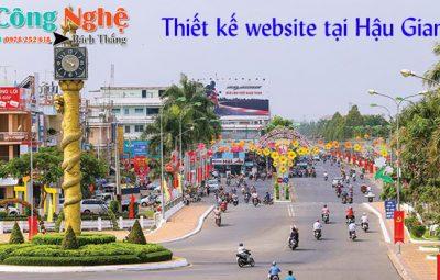 Thiết kế website tại Hậu Giang uy tín