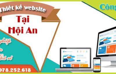 Thiết kế website tại Hội An uy tín giá rẻ