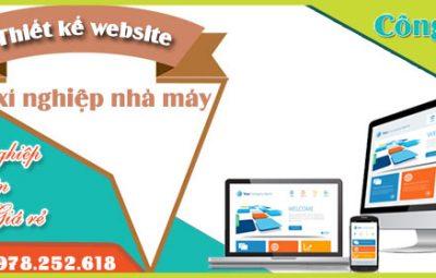 Thiết kế website xí nghiệp nhà máy trọn gói uy tín chuyên nghiệp