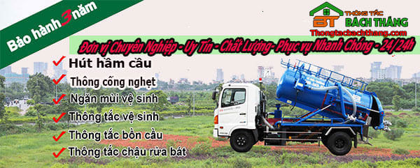 dịch vụ thông cống nghẹt quận 7 CN Bách Thắng