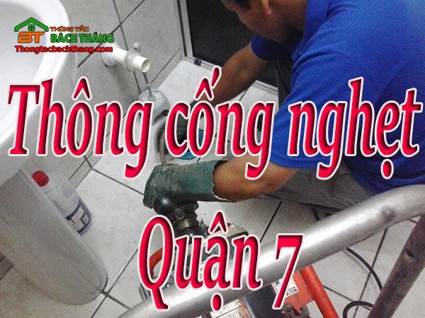 thông cống nghẹt quận 7 giá rẻ cn bt