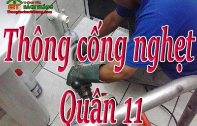 thông cống nghẹt quận 11 giá rẻ cn bt