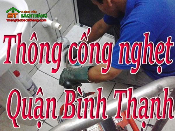 Thông cống nghẹt tại quận Bình Thạnh giá rẻ, cn bt