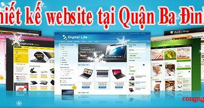 Thiết kế website tại Quận Ba Đình giá rẻ CN BT