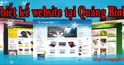 Thiết kế website tại Quảng Bình giá rẻ CN BT