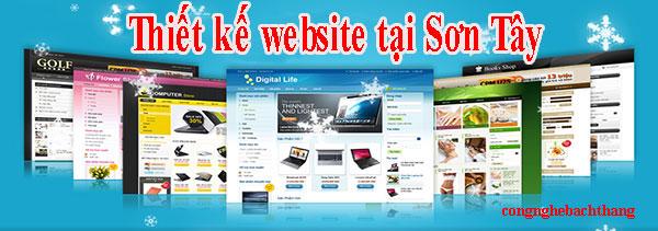 thiết kế website tại Sơn Tây giá rẻ CN BT