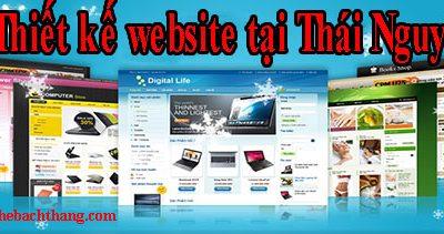 Thiết kế website tại Thái Nguyên giá rẻ CN BT