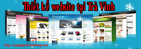 Thiết kế website tại Trà Vinh giá rẻ CN BT