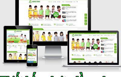 Thiết kế website đồng phục giá rẻ Cnbt