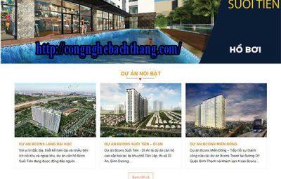 thiết kế website bất động sản CNBT