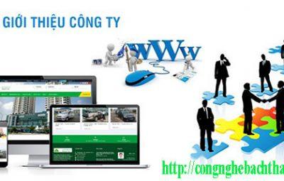 Thiết kế website giới thiệu công ty CNBT