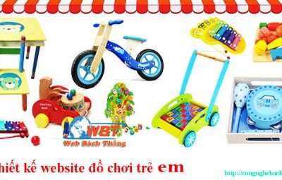 thiết kết website đồ chơi trẻ em cnbt