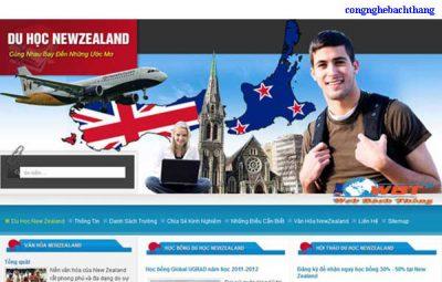 Thiết kế website du học giá rẻ CNBT