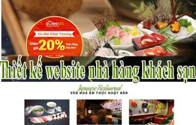 Thiết kế website nhà hàng khách sạn chuyên nghiệp CN BT