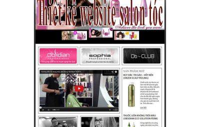 Thiết kế website salon tóc chuyên nghiệp CNBT
