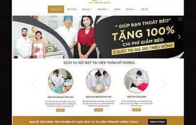 Thiết kế website spa chuyên nghiệp CN BT