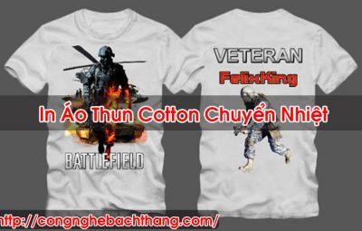 In Áo Thun Cotton Chuyển Nhiệt